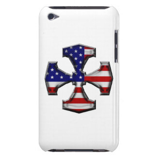 American Flag Iron Cross Barely There iPod Cover