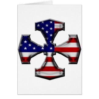 American Flag Iron Cross Greeting Card