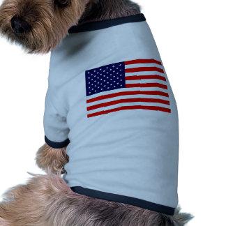 American Flag Items Ringer Dog Shirt
