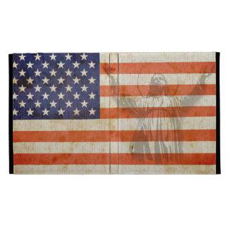 American Flag Jesus Distressed iPad Case Cove