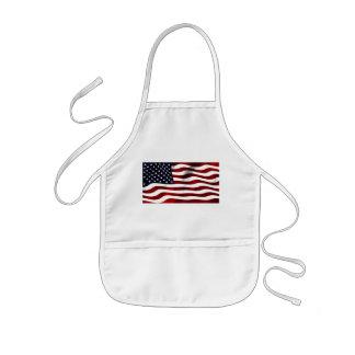 American Flag Kids Apron