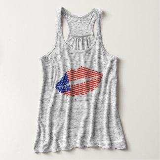 American Flag Kiss Tank Top