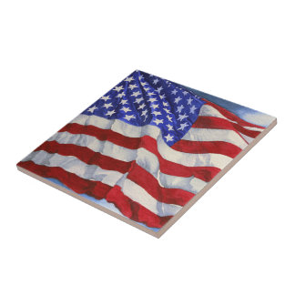 American Flag - Kitchen Tile