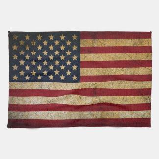 American Flag Kitchen Towel / Grunge USA Towel