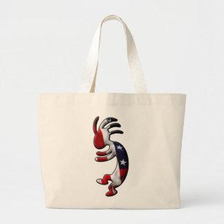 American Flag Kokopelli Jumbo Tote Bag