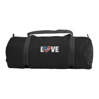 american flag love usa gym bag