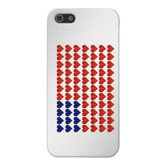American Flag Made of Hearts Case For The iPhone 5