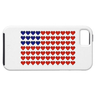 American Flag Made of Hearts iPhone 5 Case
