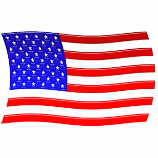 American Flag Magnet Sculpture Photo Cutout