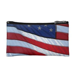 American Flag Makeup Bags