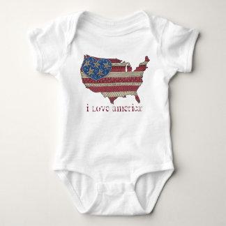 American Flag Map Doodle Art Infant Bodysuit