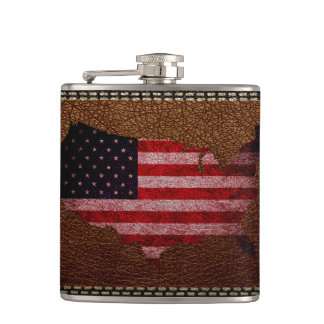 American Flag Map Flasks