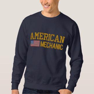 American Flag Mechanic Embroidered Embroidered Sweatshirt