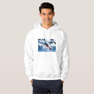 American Flag Men's Hooded Sweater