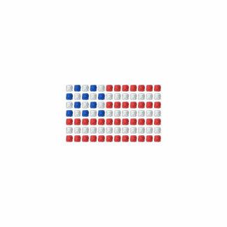 American flag men's polo shirt - dotted USA flag