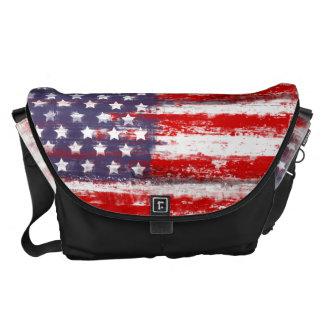 american flag, messenger bag