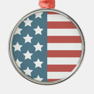 American Flag Metal Ornament
