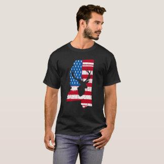 American Flag Mississippi Deer Hunting T-Shirt