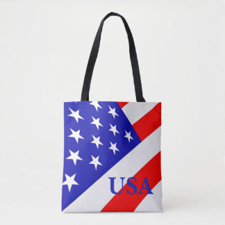 American Flag Modern Design Custom Tote Bag
