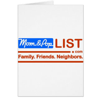 American Flag Mom and Pop Greeting Card