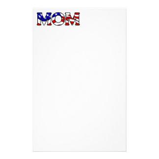 American Flag Mom Stationery