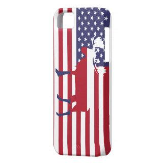 American Flag Moose Iphone Case