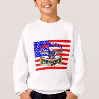 American flag motorcycle sweatshirt