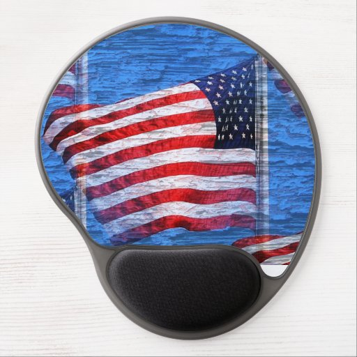 American Flag Mouse Pad Gel Mouse Pads