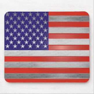 American Flag Mousepad in Red, Silver, and Blue