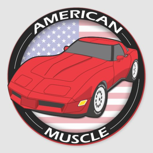 American Flag Muscle Stickers