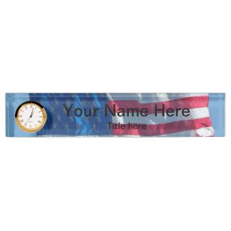 American Flag Name Plate