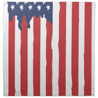 american flag napkin