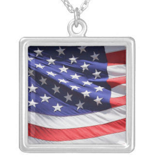 American  Flag Personalized Necklace