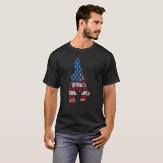 American Flag New Hampshire Deer Hunting T-Shirt