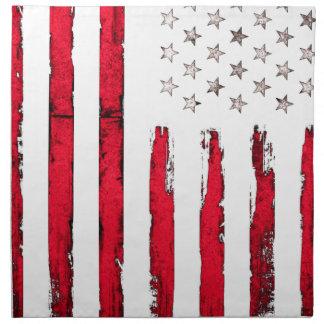 American flag New Red Grunge Napkin