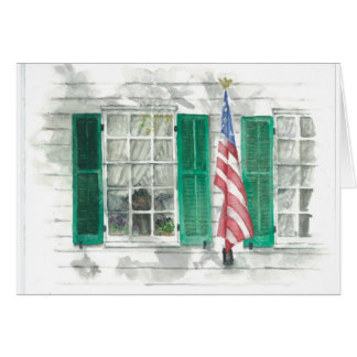 American Flag Notecard Greeting Cards
