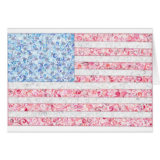American Flag Notecards Note Card