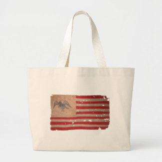 American Flag of the Fremont Expedition Large Tote Bag
