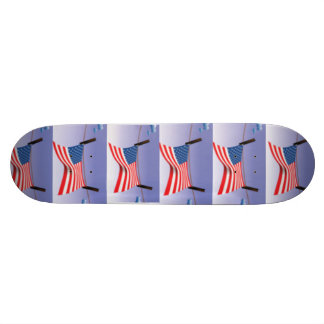 American Flag on Clothes Line Skate Boards