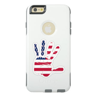 American flag on the palm usa united states hand OtterBox iPhone 6/6s plus case