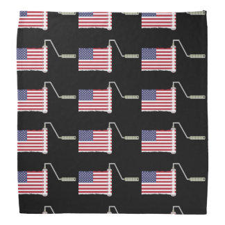 American Flag Paint Roller Bandana