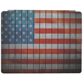 American Flag Painted Fence iPad Cover