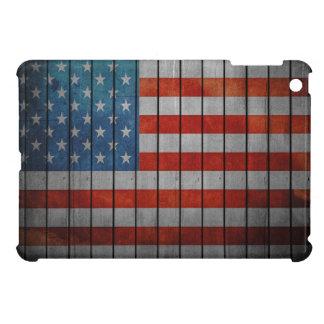 American Flag Painted Fence iPad Mini Covers