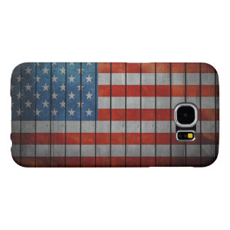 American Flag Painted Fence Samsung Galaxy S6 Cases