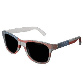American Flag Painted Fence Sunglasses