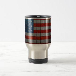 American Flag Painted Fence Travel Mug