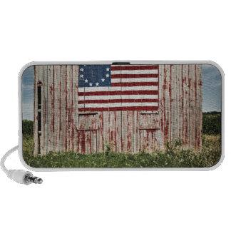 American flag painted on barn iPhone speaker