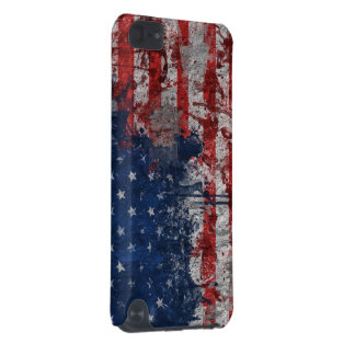 American Flag Painted on Grunge Wall iPod Touch (5th Generation) Case