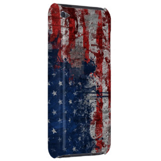 American Flag Painted on Grunge Wall Barely There iPod Cover