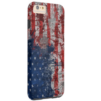 American Flag Painted on Grunge Wall Tough iPhone 6 Plus Case